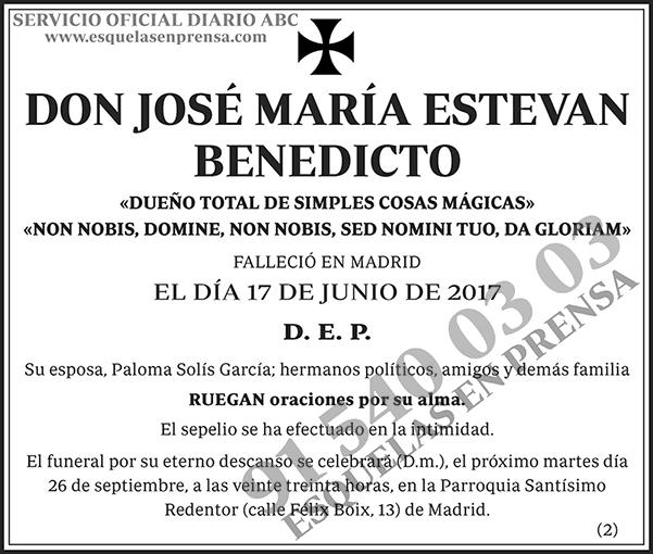 José María Estevan Benedicto